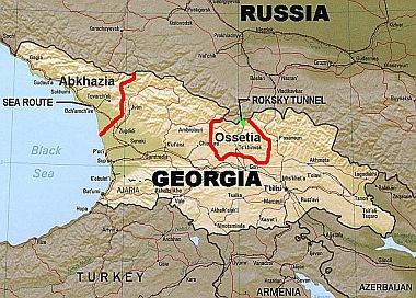 Georgien Karte Regionen.Georgien 2008